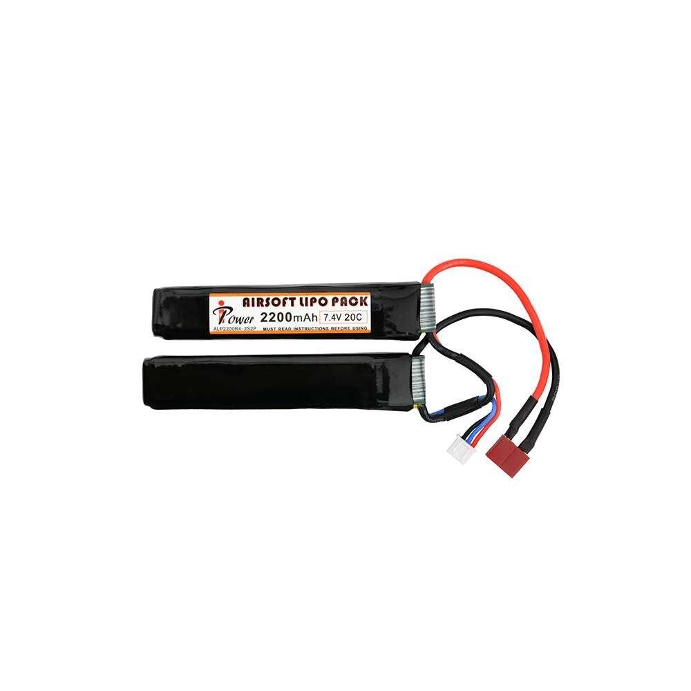 7,4v 2200 mAh Li-PO akkumulátor (2 cella, t-csati)