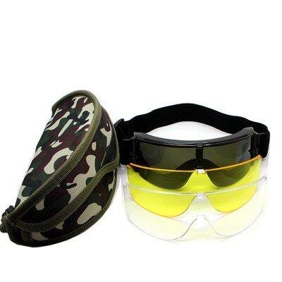 GX-1000 védőszemüveg (3 lencsével) + tok