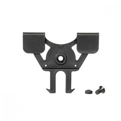 Molle adapter, fekete (360 fokos)